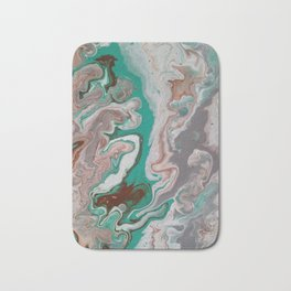Aqua Fluid Acrylic Pour Painting Bath Mat