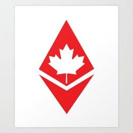 Canada flag ethereum Art Print