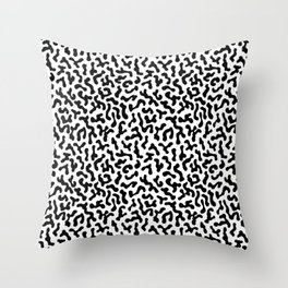 Berlin Boombox Oldschool Pattern Throw Pillow