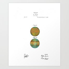 Golf Ball Patent - Circa 1897 Art Print
