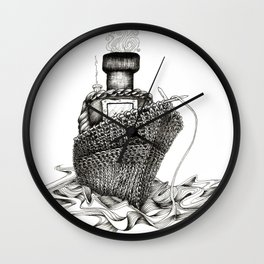 Knitted Ship Wall Clock