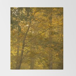 Forest in Fall Color Autumn Scene #decor #society6 #buyart Throw Blanket