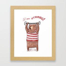 I am strong Framed Art Print