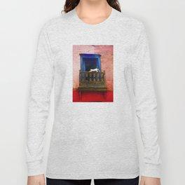 Cat in the Balcony Long Sleeve T-shirt