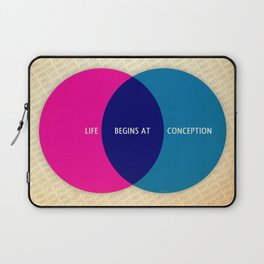 Life Begins At Conception Laptop Sleeve