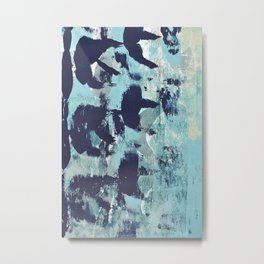 012.4 a bright contemporary abstract piece in teal and lavender by Alyssa Hamilton Art  Metal Print