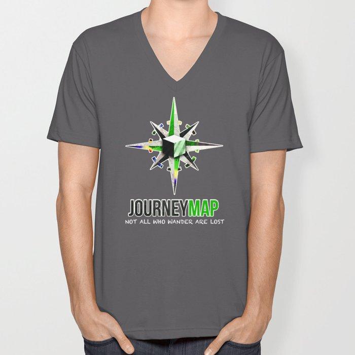 Journey Map Unisex V-Neck