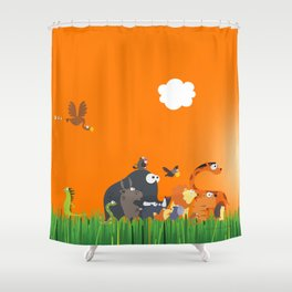 What's going on in the jungle? Kids collection Shower Curtain