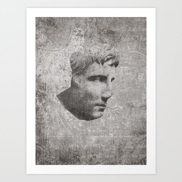 ANCIENT / Head of Augustus Art Print