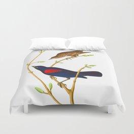 Prairie Starling Bird Duvet Cover