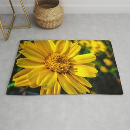 Sunflower Bokeh Rug