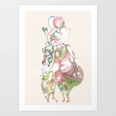 TWO LADIES Art Print
