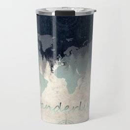 world map wanderlust forest 2 Travel Mug