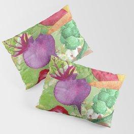 Mixed Vegetables Watercolor Pillow Sham