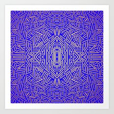 Radiate (Yellow/Ochre Royal) Art Print
