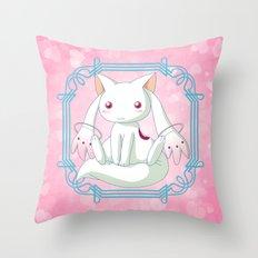 Kyubey Throw Pillow