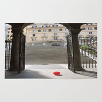 ballon Area & Throw Rugs featuring Red Ballon by Danielle W