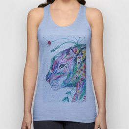 Tiger in the Garden Unisex Tank Top