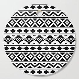 Aztec Essence Ptn III Black on White Cutting Board