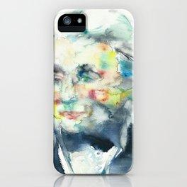 HORATIO NELSON - watercolor portrait iPhone Case