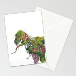 """Maverick The Undead Dinosaur"" Stationery Cards"