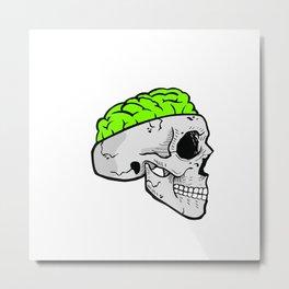 Zombie Brain Metal Print