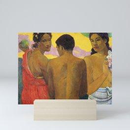 Three Tahitians by Paul Gauguin Mini Art Print
