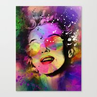 marilyn Canvas Prints featuring Marilyn  by mark ashkenazi