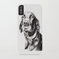 charlie iPhone & iPod Cases featuring Charlie by Hana Robinson