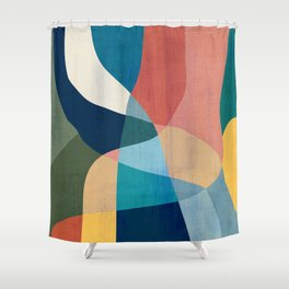 Waterfall and forest Shower Curtain