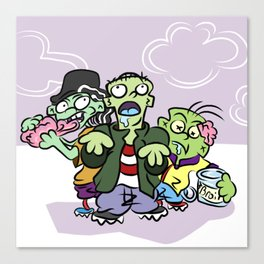 Zombie Ed Boys Canvas Print