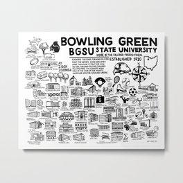 Bowling Green State University Map Metal Print