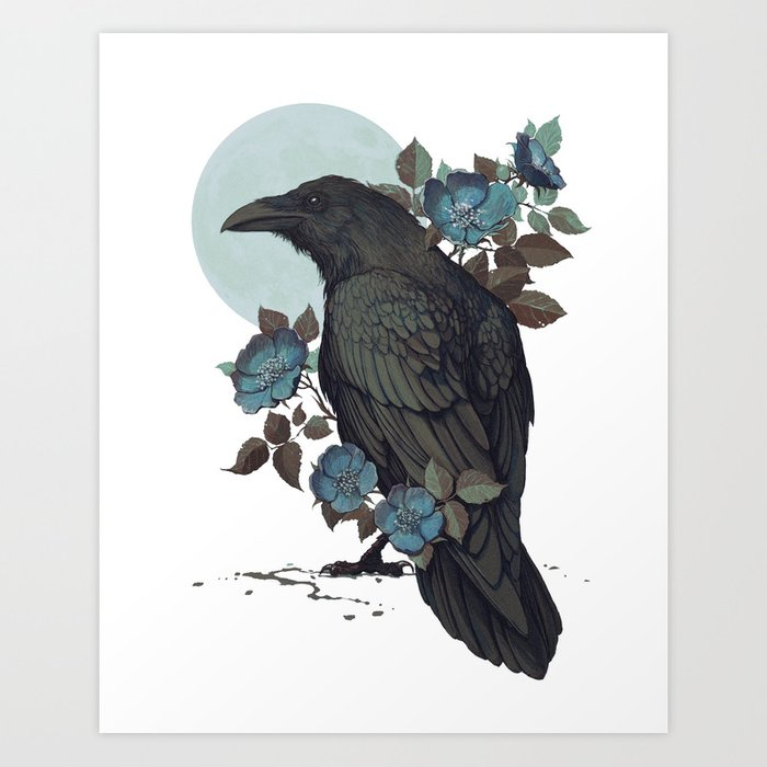 Raven Art Print by coupleofkooks