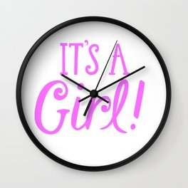 It's A Gril Wall Clock