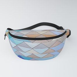 Triangle Pattern no.1 Blues and Browns Fanny Pack