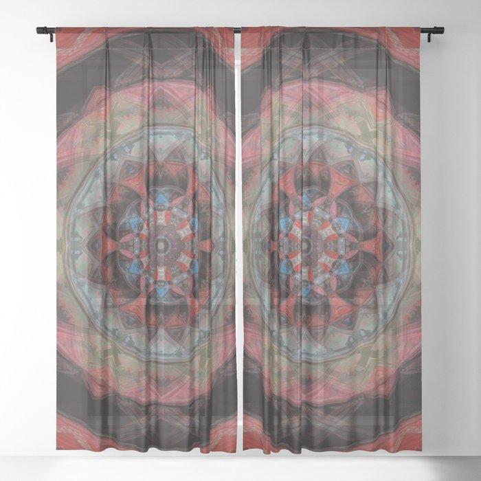 Colorful Mandala Sheer Curtain