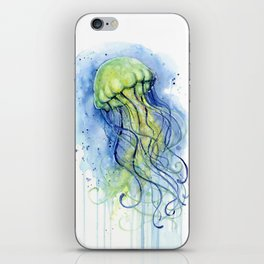 Jellyfish Watercolor Beautiful Sea Creatures iPhone Skin