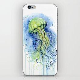 Jellyfish Watercolor Beautiful Sea Creatures iPhone Skin