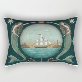 Sirens of the Sea by Donna Atkins Rectangular Pillow