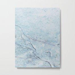 Light Blue Marble Metal Print