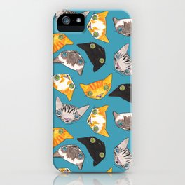 """Oro?"" Cats-Teal iPhone Case"