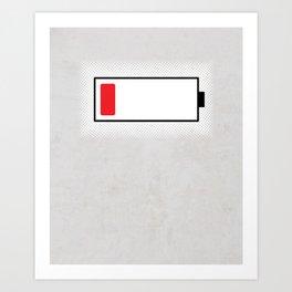 Baymax Low Battery Art Print