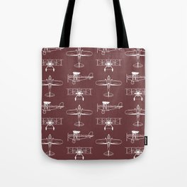 Biplanes // Tosca Red Tote Bag