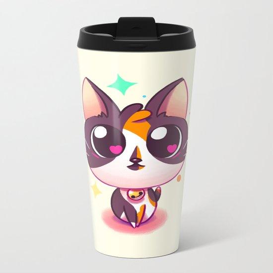 Kitty Love Metal Travel Mug