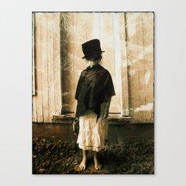 Dark Little Girl  Canvas Print