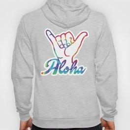 Shaka Hands Aloha, colorful sticker Hoody