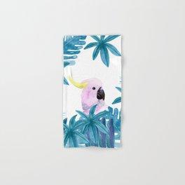 Cockatoo with tropical leaves Hand & Bath Towel