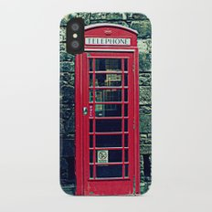 Red Telephone Boxes iPhone X Slim Case