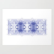 The Willow Pattern (Blue variation) Art Print