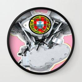Portuguese Panhead Hot Pink. Wall Clock